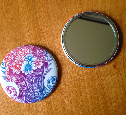 NEW POCKET MIRRORS AVAILABLE in my ETSY SHOP!